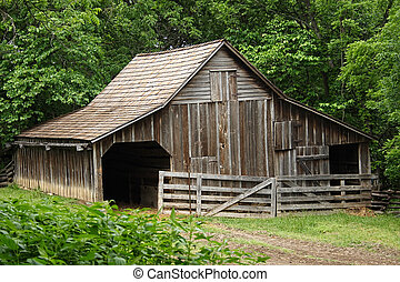 Old Wooded Barn used for hay and livestock.
