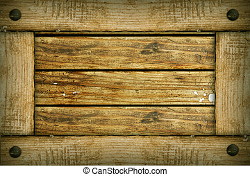 old wooden background frame