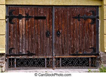 door - old wooden barn door