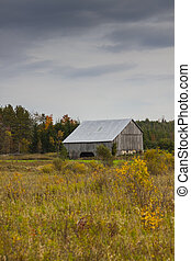 Old Wooden Barn in the Country