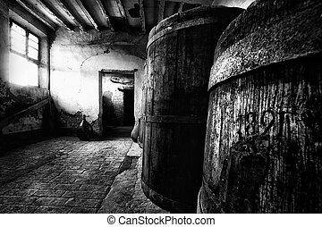 Old wooden barrels - 1891