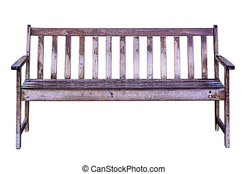 Old wooden bench.