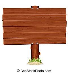 Old Wooden Billboard. Advertising Vector Template