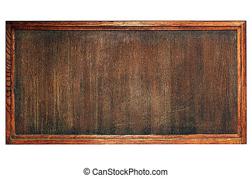old wooden board for menu or notes
