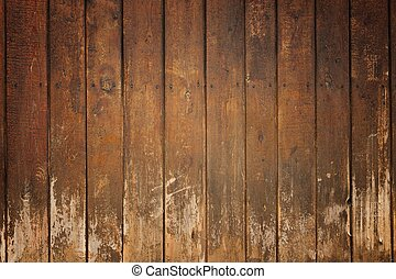 Old wooden board - Abstract brown old wooden grunge...