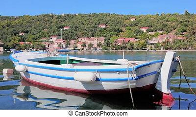 Old wooden boat, island Sipan near Dubrovnik, Croatia