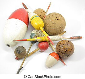 Old Wooden Bobbers Everywhere - A huge variety of old wooden...