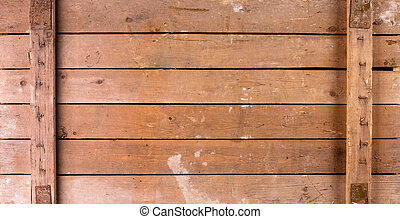 Old wooden box - Background of old wooden box