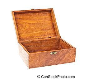 Old wooden box treasure chest