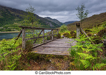 Old Wooden Bridge on the path to Barisdale