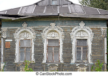 Old wooden building in Vologda.