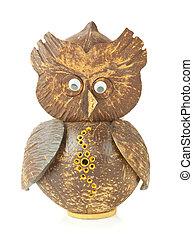 wooden carved Owl