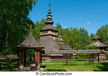 Old wooden church in Lviv