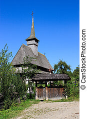 Old wooden church in Salistea de Sus, Maramures