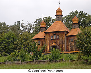Old  wooden church in the Ukrainian Village.