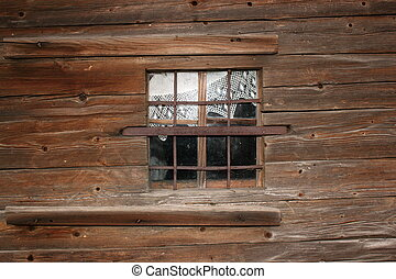 old wooden church window