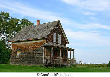 Old wooden country house - Wooden country house from old...