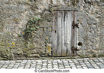 Old wooden door in Rothenburg