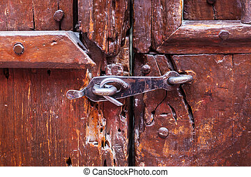 door locked on the latch