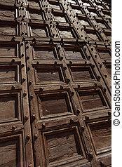 Old wooden doors background