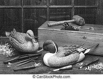 Old Wooden Ducks.