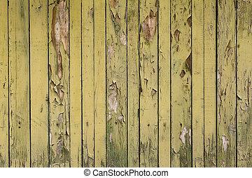 peeling green paint