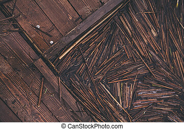 old wooden fishing pier