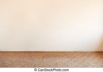 Old wooden floor in empty room