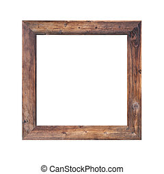 Old wooden frame isolated. - Old wooden frame isolated on...