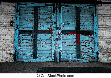 Old wooden gate background
