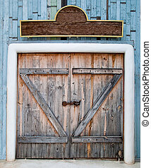 Old Wooden Gate in farm