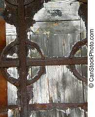 Old wooden gate.