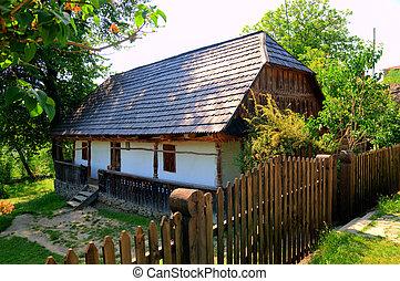 old wooden house, a museum Uzhhorod Ukraine