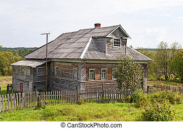 Old wooden house in the country