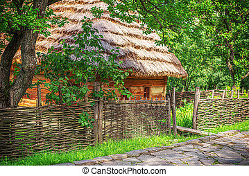 Old wooden house in the countryside.