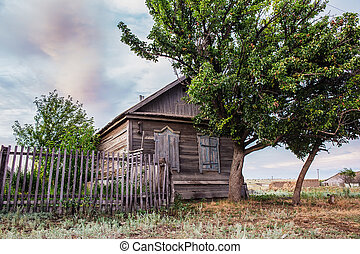 wooden house in the Russian village