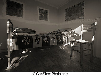 Old wooden house interior