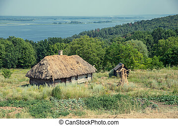 old wooden house on a hill