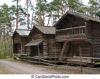 Old wooden houses