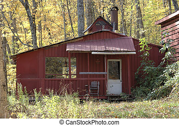 maple syrup shed - Old wooden maple syrup shed Quebec Canada