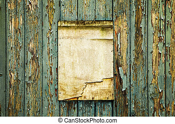 Old wooden notice board