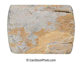old wooden on white background