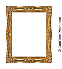 Old wooden picture frame