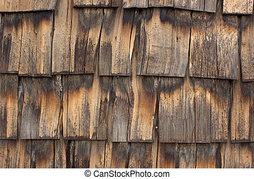 old wooden roof tiles