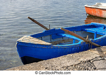 Old Wooden Rowing Boat - Sicily Italy