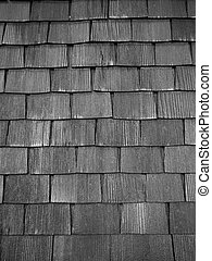 Old wooden shingles.