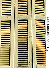 Old wooden shutters detail