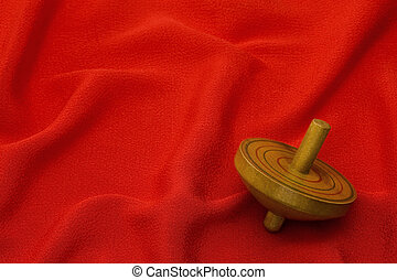Old wooden spinning Top