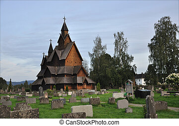Wooden Stave Church in Heddal, Norway