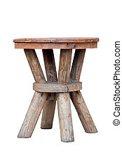 Old wooden stool